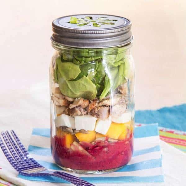 Chopped Mason Jar Salad from Lauren Kelly Nutrition Mexican Mason Jar ...