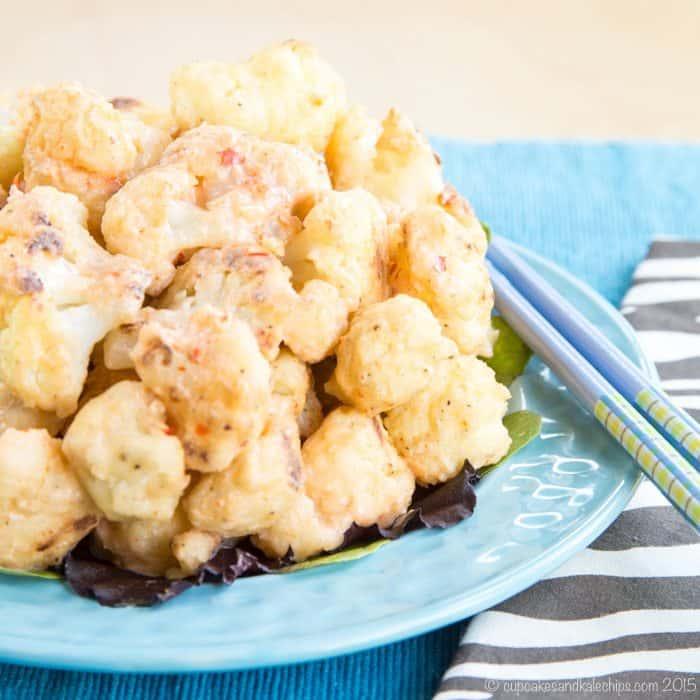 Copycat Bang Bang Shrimp made with cauliflower