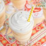 Dairy-Free Peach Mango Lassis with Whipped Coconut Cream for #SundaySupper