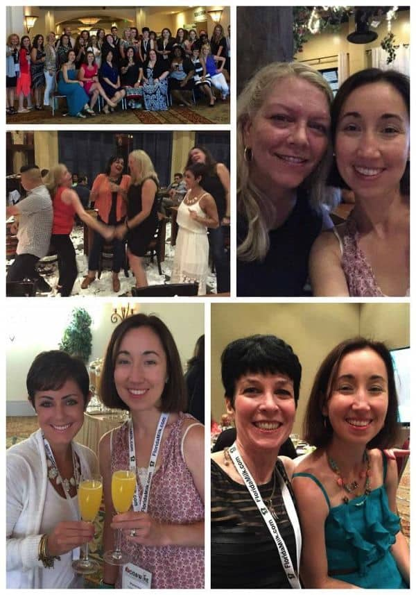 Food and Wine COnference Friends Collage