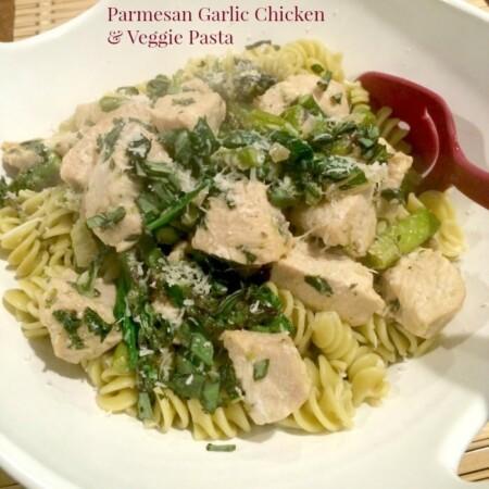 Parmesan Garlic Chicken and Veggie Pasta