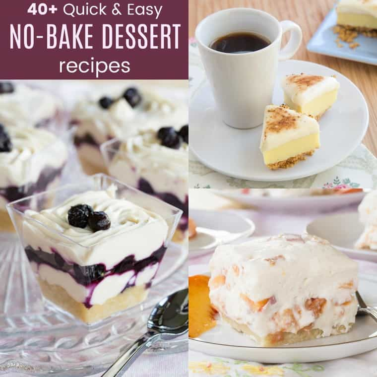 Quick No Bake Dessert Recipes - Cupcakes & Kale Chips