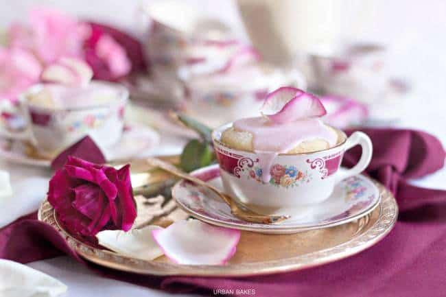 Quick No Bake Desserts like Rosewater Mug Cakes