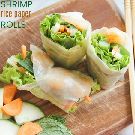 Shrimp Rice Paper Rolls recipe