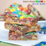 Butter Pecan M&M's Magic Bars for #SundaySupper