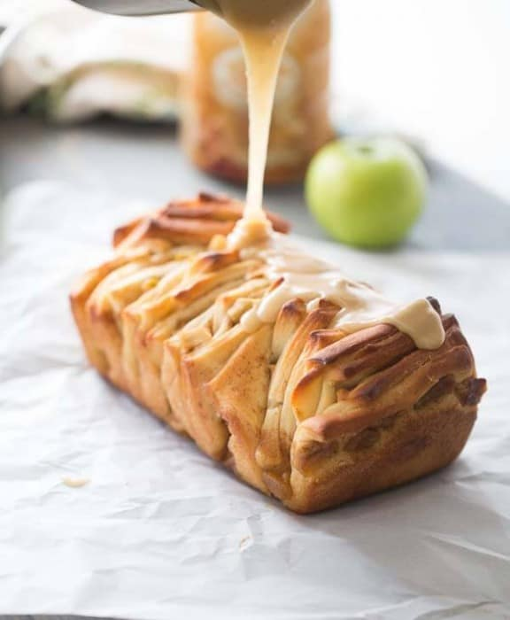 Caramel Apple Pull Apart Bread from Lemons for Lulu