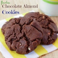 Flourless Chocolate Almond Cookies Recipe-6 title