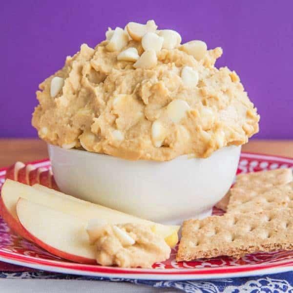 Flourless White Chocolate Macadamia Nut Cookie Dough Dip recipe 3317