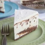 Homemade No-Churn Nutella Chocolate Chip Ice Cream Cheesecake