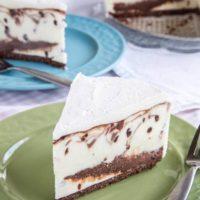 Nutella Chocolate Chip Cheesecake No-Churn Ice Cream Cake