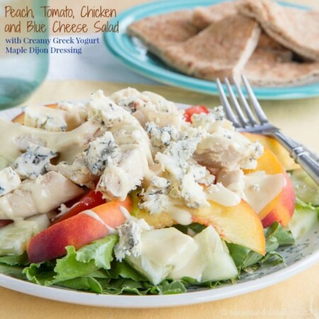 Peach, Tomato, Chicken and Blue Cheese Salad