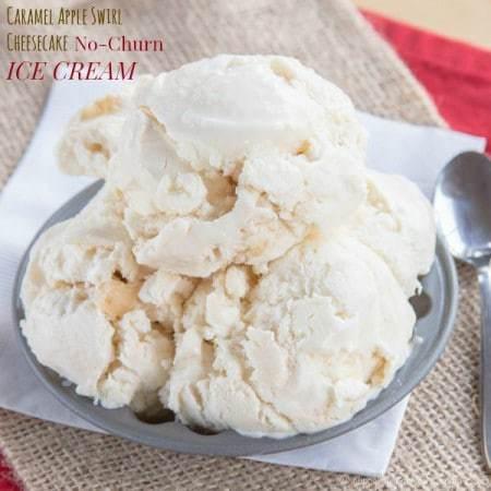 Caramel Apple Cheesecake No-Churn Ice Cream