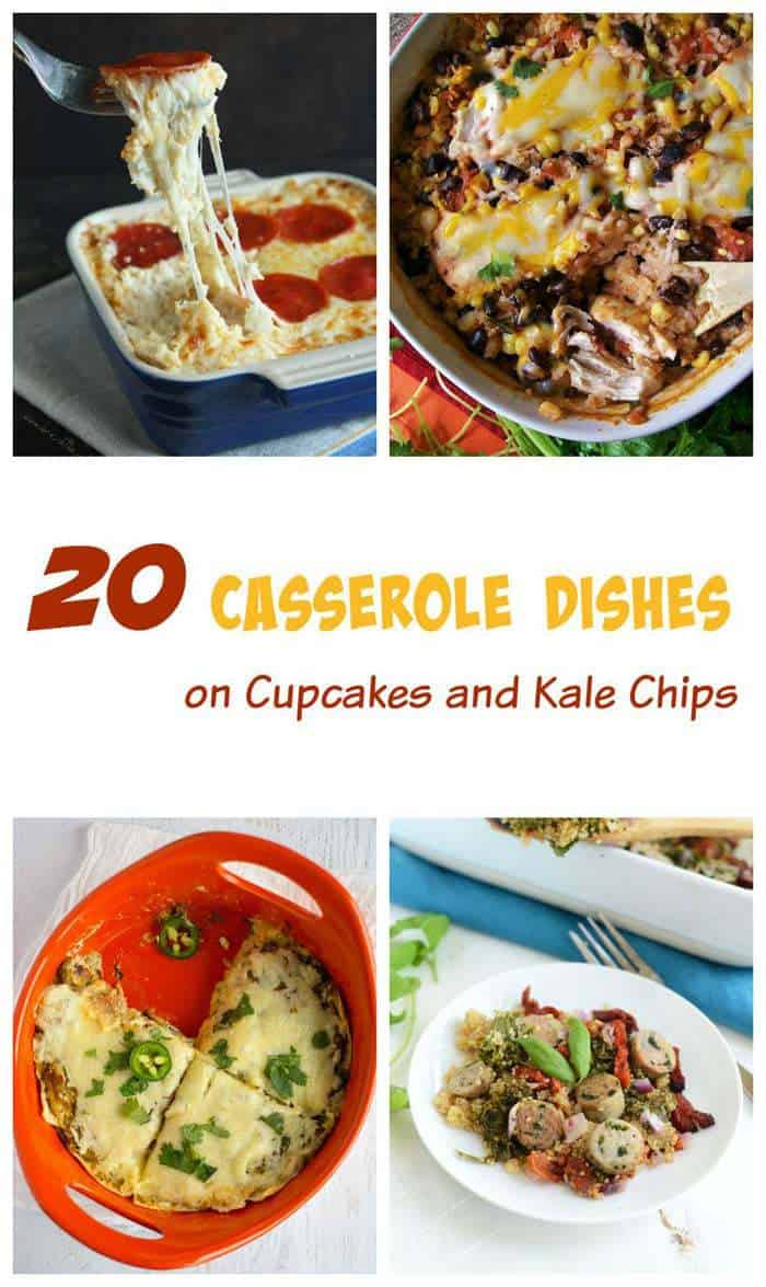 20 Casserole Recipes - comfort food straight out of your oven and onto your dinner table! | cupcakesandkalechips.com