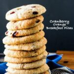 Cranberry Orange Breakfast Pitas