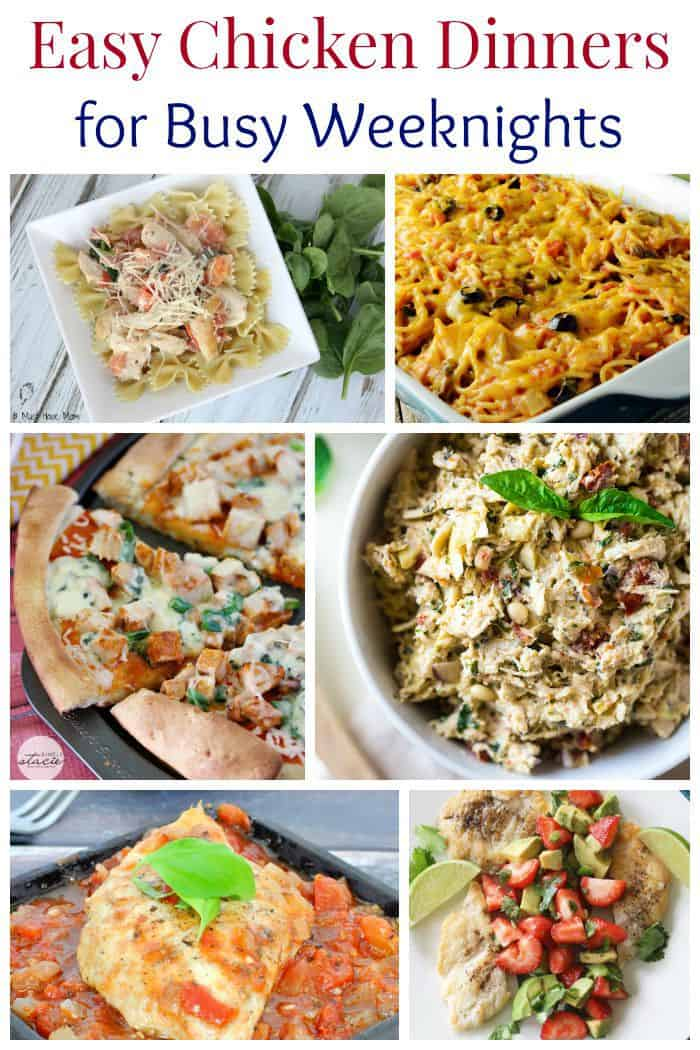 Easy Chicken Dinners for Busy Weeknights - you can never have too many chicken recipes! |cupcakesandkalechips.com