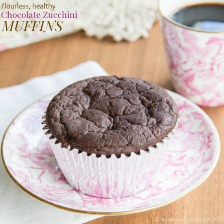 Flourless Healthy Chocolate Zucchini Muffins