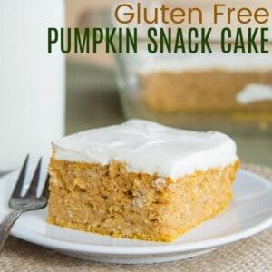 Gluten Free Pumpkin Snack Cake on a plate