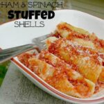 Ham and Spinach Stuffed Shells