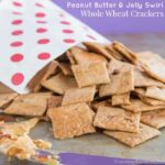 Peanut Butter and Jelly Swirl Whole Wheat Crackers