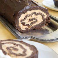 Gluten Free Pumpkin Cheesecake Flourless Chocolate Roll
