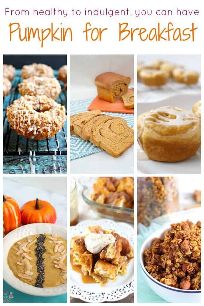 Pumpkin Recipes for Breakfast - from healthy to decadent, satisfy your pumpkin craving first thing in the morning. | cupcakesandkalechips.com