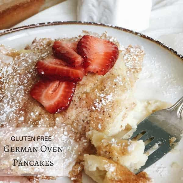 Gluten Free German Oven Pancakes - an old-world breakfast recipe perfect for a special weekend breakfast for your family! | glutenfreeanonymous.com for cupcakesandkalechips.com