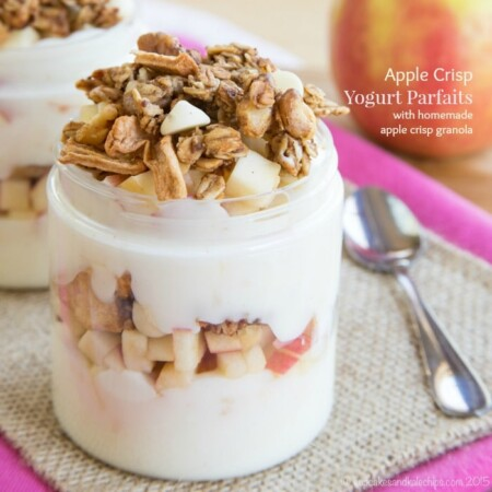 Apple Crisp Yogurt Parfaits