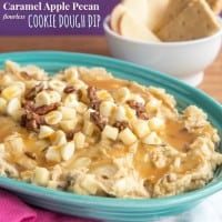 Caramel Apple Pecan Flourless Cookie Dough Dip recipe-3323 title