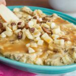 Caramel Apple Pecan Flourless Cookie Dough Dip recipe