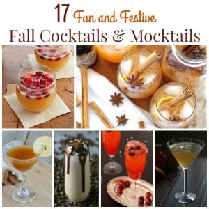 Fall Cocktails and Mocktails Square Collage