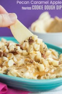 Flourless Pecan Caramel Apple Cookie Dough Dip Recipe