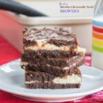 Flourless Ricotta Cheesecake Swirl Brownies
