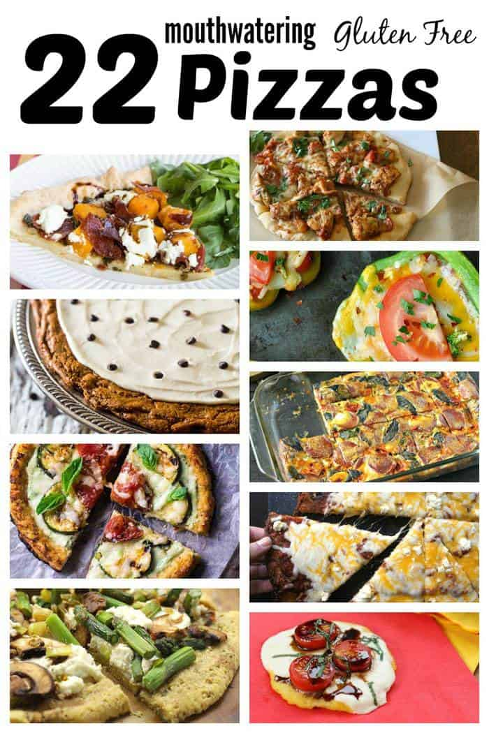 22 Gluten Free Pizza Recipes - forget delivery and satisfy your pizza craving with these creative topping and crust alternatives, and even a couple of dessert pizzas! | cupcakesandkalechips.com