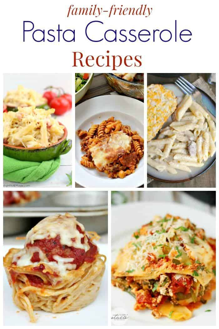 Family-Friendly Pasta Casserole Recipes - comfort food meals perfect for freezing, taking to a family in need, or just enjoying! | cupcakesandkalechips.com