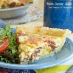 Bacon Cheddar Quiche with Tomato and Pineapple