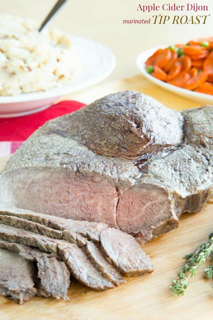 Apple Cider Dijon Marinated Tip Roast - a moist and delicious beef roast recipe perfect for #SundaySupper or a holiday meal. #RoastPerfect | cupcakesandkalechips.com | gluten free