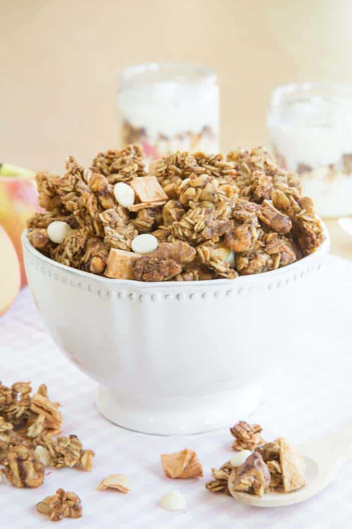 Use Apple Cinnamon Granola to make Apple Crisp Yogurt Parfaits