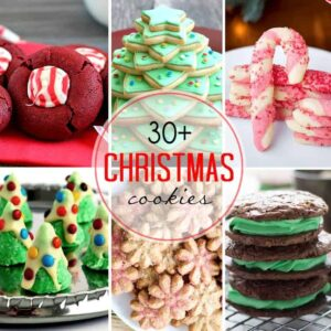 Over 30 recipes for Christmas cookies, like those shown here, that you're sure to love!