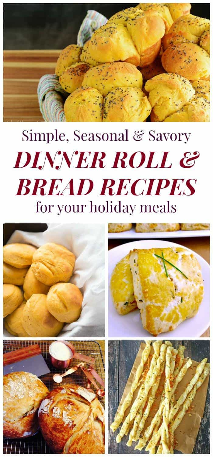 Dinner Roll and Bread Recipes for Your Holiday Meals - complete your Thanksgiving feast, Christmas dinner, or any holiday menu with this recipe collection! | cupcakesandkalechips.com