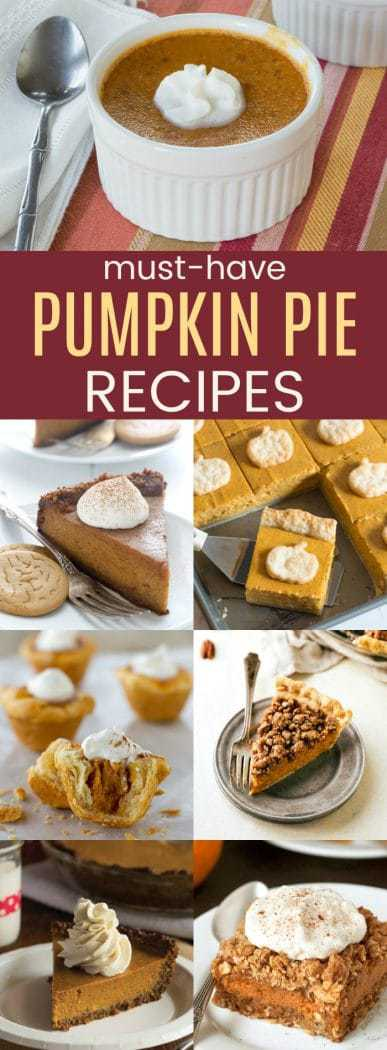 The Best Pumpkin Pie Recipes - classic, creative, bars, gluten free, low carb, paleo, vegan, and more for your Thanksgiving dessert!