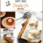 15 Must-Have Pumpkin Pie Recipes
