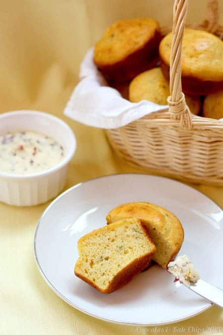 Sage Cornbread Muffins with Cranberry Orange Butter new