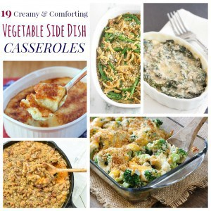 Side Dish Vegetable Casseroles Square Collage