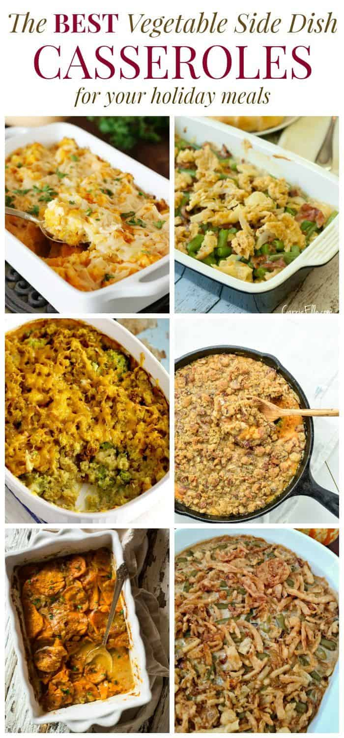 The Best Vegetable Side Dish Casserole Recipes - from healthier versions of classic recipes to cheesy and creamy indulgences, your holiday meal isn't complete without the sides! | cupcakesandkalechips.com