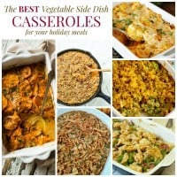 Vegetable Side Dish Casseroles Square Collage