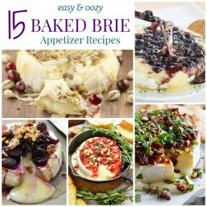 Baked Brie Square Collage