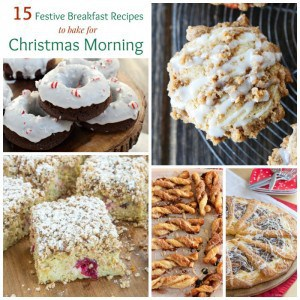 Christmas Morning Breakfast Collage Square