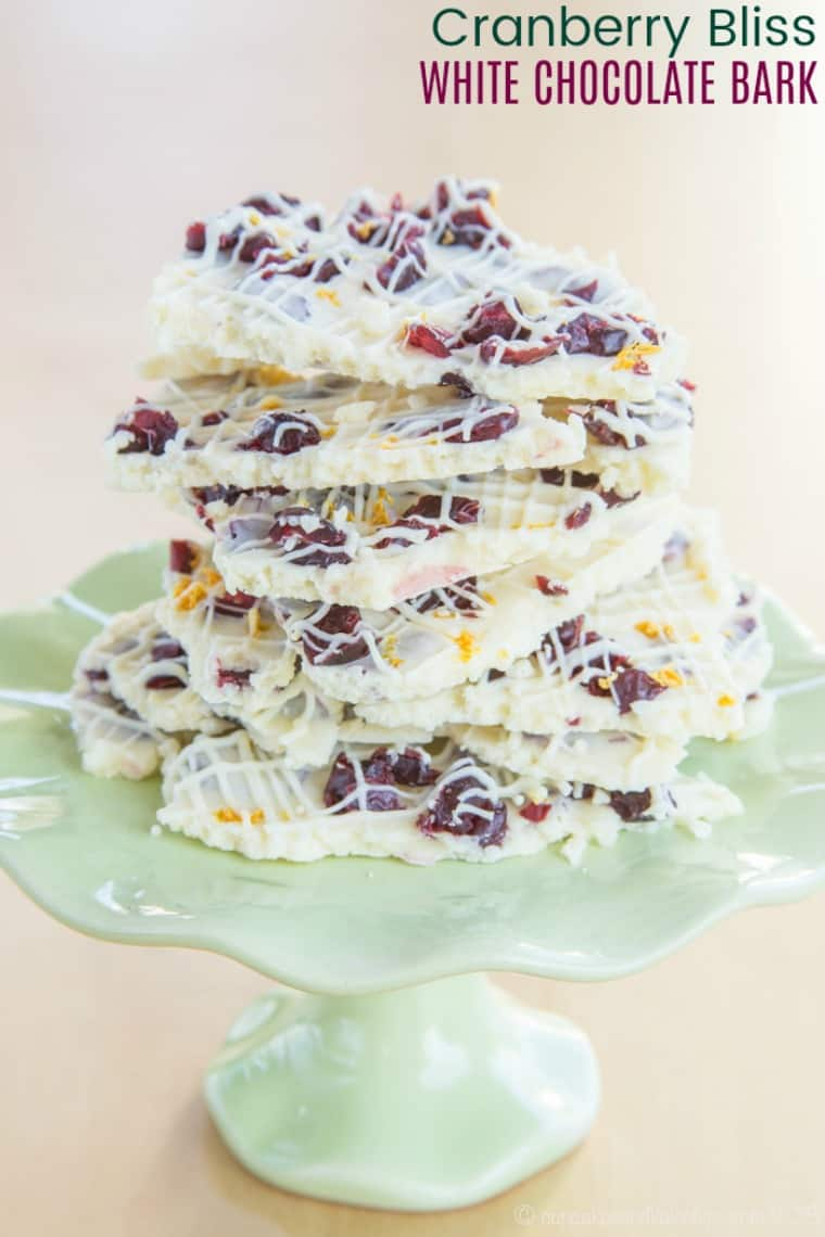Cranberry Bliss White Chocolate Bark Recipe