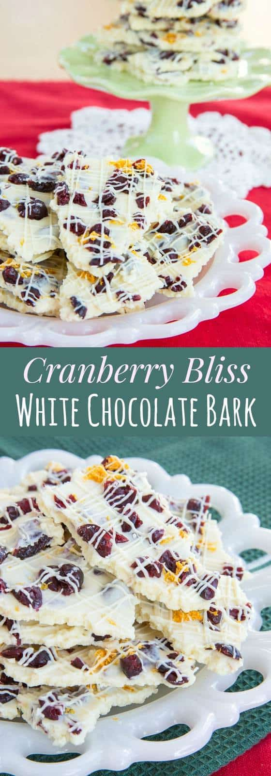 Cranberry Bliss White Chocolate Bark - Cupcakes & Kale Chips