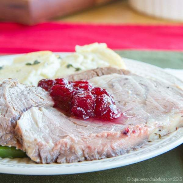 Cranberry Crusted Prime Rib Roast - a perfectly tender and flavorful beef roast for a holiday meal or #SundaySupper. You too can #RoastPerfect! #ad | cupcakesandkalechips.com | gluten free, low carb, paleo